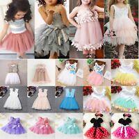 Baby Toddler Girls Princess Dresses Pageant Wedding Party Tutu Tulle Sun Dress