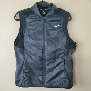 Nike Running Vest Men's Size XL Black Full Zip