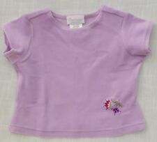 Girls Top Short Sleeve Lilac Velour Med (4/5) by American Girl Cotton & Spandex