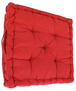 """Armchair Booster Cushion, Red, Size 45 x 45 x 10 cms, 18"""" x 18"""" x 4"""""""