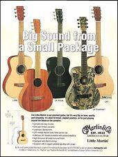 The 2005 Little Martin LX Series LXM LX1 LXK2 Realtree Black guitars 8 x 11 ad