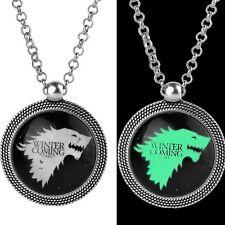Leuchtender Wolf Anhänger, Kette. Stark - Winter Coming, Game of Thrones