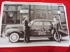 1940 STUDEBAKER PRESIDENT SEDAN INDY 500 CAR  BIG 11 X 17  PHOTO /  PICTURE