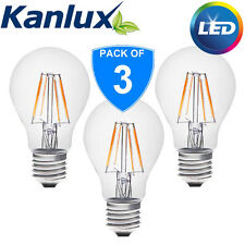 3x Kanlux 4W E27 Edison Screw Standard LED GLS Light Bulb Lamp Clear 2700K