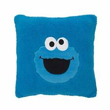 Sesame Street Cookie Monster Blue Super Soft Sherpa Toddler Pillow with Applique
