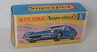 Repro Box Matchbox Superfast Nr. 5 Lotus Europa blau