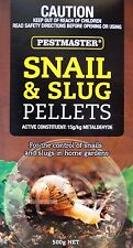 Pestmaster Snail and Slug Pellets 500g - Controls Snails & Slugs in Home Garden
