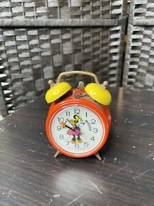 Vintage Bradley Minnie Mouse Alaram Clock Japan