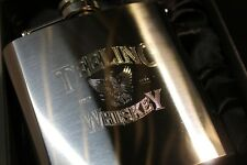 TEELING WHISKEY HIP FLASK 6oz stainless steel NEW in gift box FREE ENGRAVING