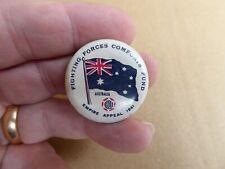 WW11 AUSTRALIAN FIGHTING FORCES COMFORTS FUND AUSTRALIA F.F.C.F BUTTON DAY BADGE