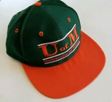 Vintage 1990s U of M University of Miami Hurricanes The Game Brand Snapback Hat