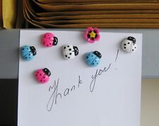 Cute ladybird and flower fridge,memo,decor magnets.Set of 7 magnets.Gift idea
