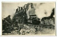 RPPC - Crewman Standing Beside a Steam Locomotive 1918-1930 Trains Postcard