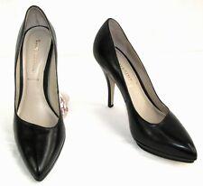 SAN MARINA - Escarpins VAMINA talons11 cm + plateau cuir noir 39 NEUF