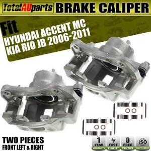 2x Front Left + Right Brake Caliper for Hyundai Accent MC Kia Rio JB 2006-2011