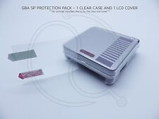 Nintendo SP GBA Clear Acrylic Protective Case Game Boy Advance AGS001 LCD COVER