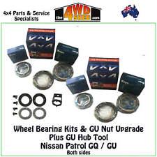 WHEEL BEARING FRONT fit NISSAN PATROL GQ/GU Y60 Y61 PAIR GU NUT UPGRADE + TOOL