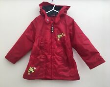 Girls Hooded Fleece Lined Raincoat Age 5 Polochon <D1290