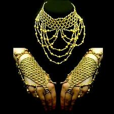 Jewellery Set Belly Dance Dancing Slave Arm Band Necklace Chain Bracelet Ring