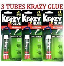 3pk Krazy Glue Instant strong Super Glue crazy fast Tube All Purpose 0.07oz