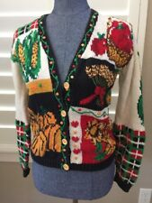 "Eagle's Eye Autumn Fall Thanksgiving Sweater Turkey Football Corn S ""ugly"" Apple"