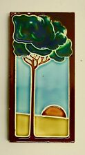 Vintage Art Nouveau Tile with Tree Arts & Crafts