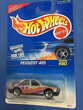 HOTWHEELS PEUGEOT 405 COLLECTOR #467 VINTAGE ORIGINAL 1990 HOTWHEELS 15977