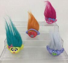 Trolls Pencil Toppers Hair Toys Lot 4pc Poppy DJ Suki Guy Smidge Mcdonalds 2016