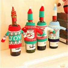 Christmas Party Ugly Sweater Wine Bottle Cover Set of 2 Christmas Wine Gift SH