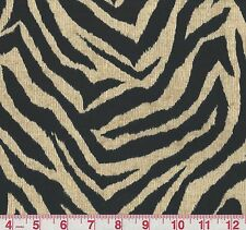 Bryant Wild Thing Onyx Animal Stripe Print Indoor Outdoor Upholstery Fabric BTY