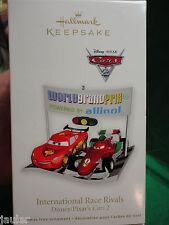 2011 Hallmark ornament DISNEY PIXAR CARS International Race Rivals Cars 2 NEW