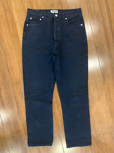 AGOLDE JEANS - Riley Hi Rise Straight Crop Dark Blue Revolve - 27