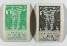 Poster Stamp / Cinderella - Passionsspiel Erl. Tirol 1912 Jeden Sonn & Feiertag