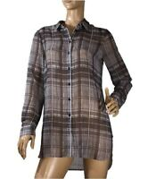 WITCHERY SIZE M  LONG LINE CHECK SHIRT