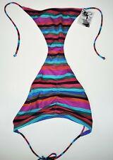 Medium Victoria Secret Swim Bikini Bottom Skimpy String Ties Striped NEW