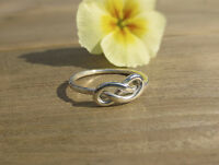 Handmade Sterling Silver 1.5mm chunky Infinity Knot Ring