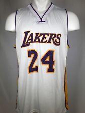 RARE Los Angeles Lakers Kobe Bryant #24 White Staples Center Promo Jersey SGA XL
