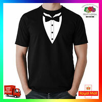 Bow Tie Tee Tshirt T-Shirt Dicky Dickie Tux Tuxedo Funny Mens Cool Suit Smart