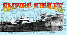 Model Boat Plans 1/144 Scale Radio Control Catapult Aircraft Merchant ship Plans