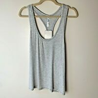 Fabletics NEW Women's Tank Top Jess Racerback Size XXL Gray Ribbed NWT Gym