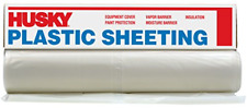HUSKY Clear 6 mil Plastic Rain Weather Cover Poly Sheeting DIY Roll 6 x 100