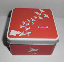 Uhrendose Fossil Neu Etui Blechdose Leerdose schmuckdose Uhrenbox Armbanduhr