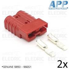 2X GENUINE Anderson Plug Red Connector 50A SB50 992G1 Caravan 4X4 Dual Battery