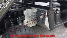 "2009–2014 FULL SIZE POLARIS RANGER BLACK  DIA PLT MUD GUARDS ""PACKAGE"""