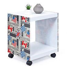 Cubo come tavolino salotto disegno Londra con lati in vetro