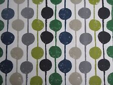 "HARLEQUIN SCION CURTAIN FABRIC ""Taimi"" 1.8 METRES APPLE/IVY/SLATE LAVANDE COLL"