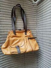 Vintage Sophia Visconti women's handbag tan genuine leather made in India