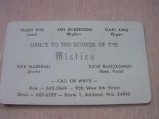 The Mistics 60's-70's Garage & Rock Band Ashland Wis WI Business Card Gary King