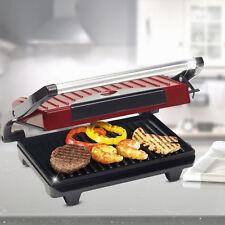 Kontakt Elektro Barbeque Panini Tisch Grill 700 Watt rot Toaster 2 Grillflächen