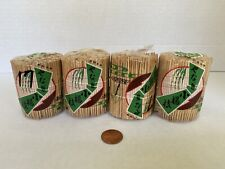 Vintage Original Toothpicks Chinese packaging set of 4 natural materials